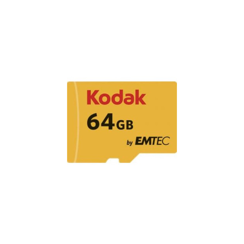 Kodak 64GB Micro SDXC Classe 10 U3 4K + adattatore