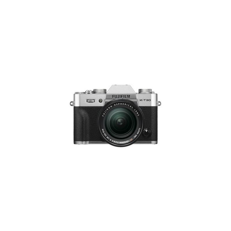 Fujifilm X-T30 Silver + XF 18-55mm f/2.8-4 R LM OIS Fujinon Nero