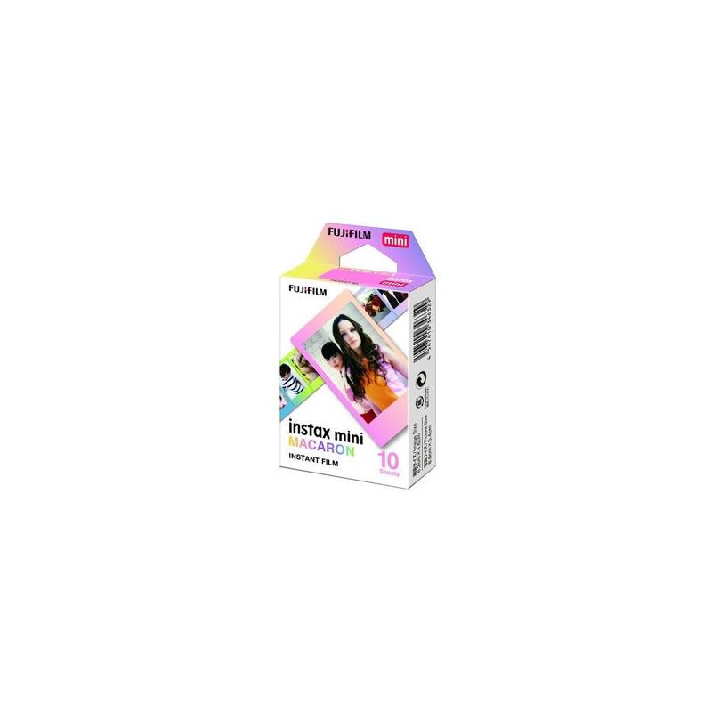 Fujifilm 10 pellicole Instax Mini Bordo Maccherone