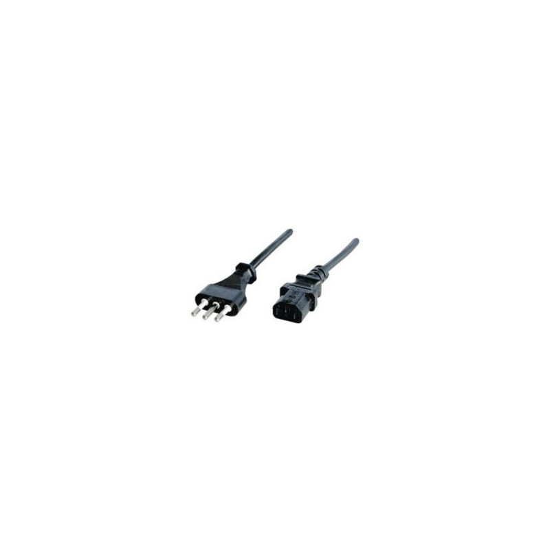 Fujifilm Lindy IEC power cord, Italy, 2m cavo di alimentazione Nero