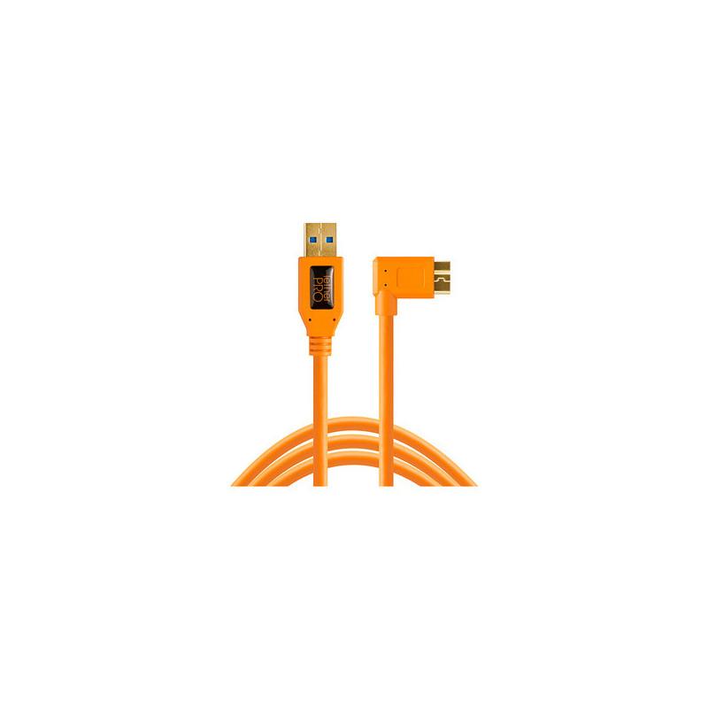 Tether Tools TPro USB 3.0 - Micro-B Right Angle 4.6m Arancione