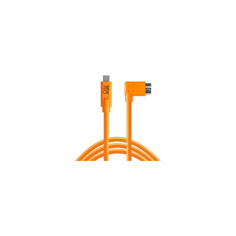 Tether Tools USB-C a 3.0 Micro- B Right Angle 4,60m arancio