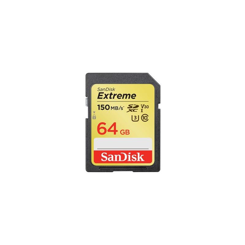 SanDisk 64GB Extreme SDXC Classe 10 UHS-I