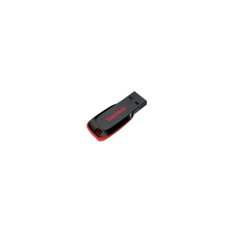 SanDisk Cruzer Blade 32GB USB 2.0 Tipo-A Nero, Rosso