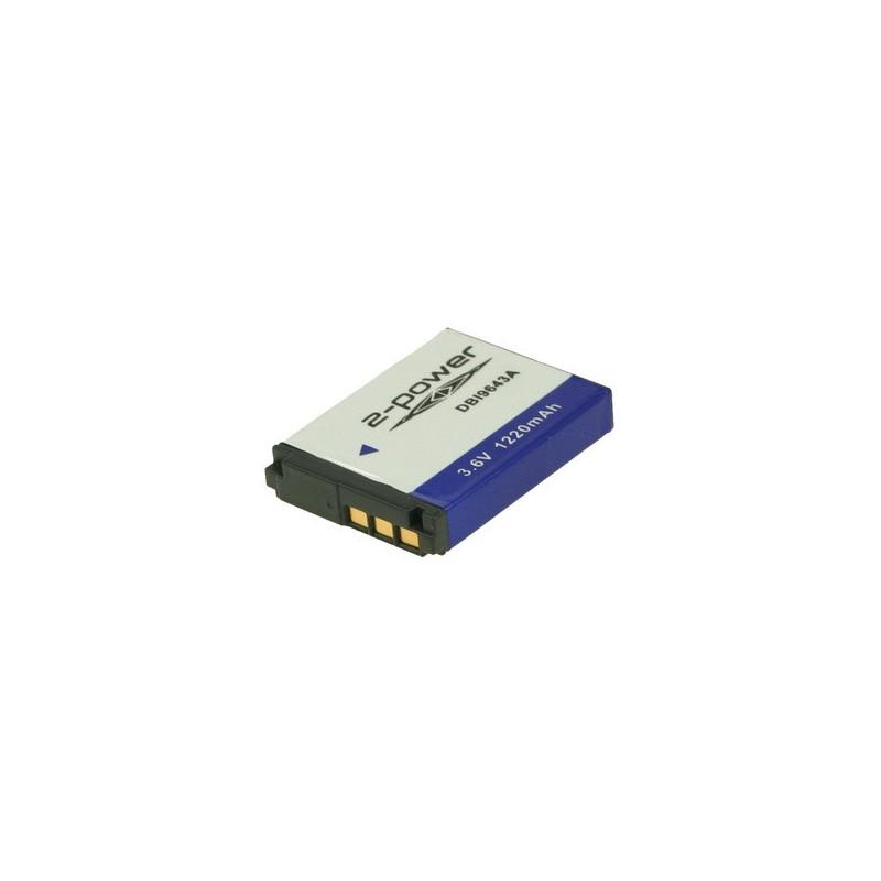 2-POWER DBI9643A Batteria per fotocamera/videocamera Ioni di Litio 1100 mAh