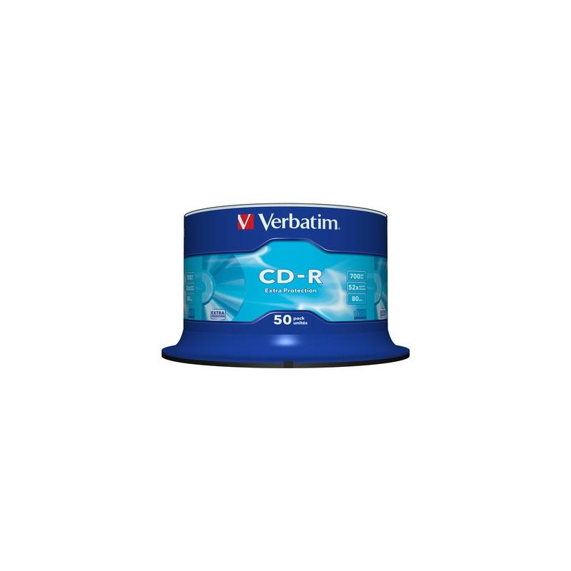 Verbatim 1x50 Data Life CD-R 80min 52x Speed