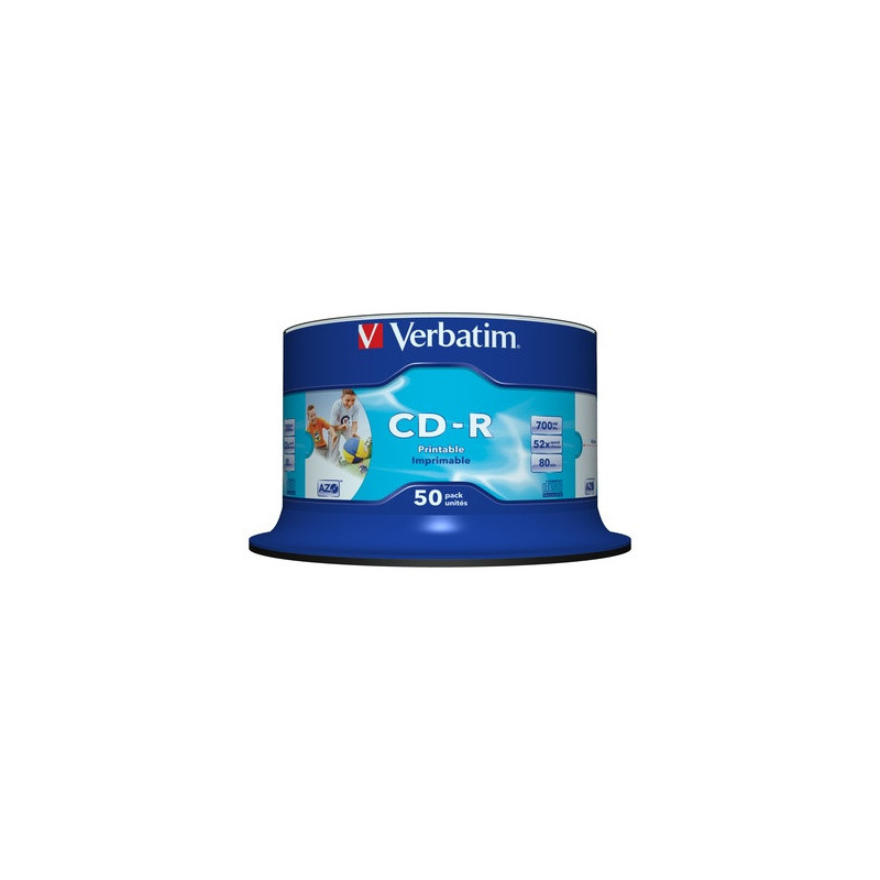 Verbatim 1x50 CD-R 80min 700MB 52x Speed Stampabile